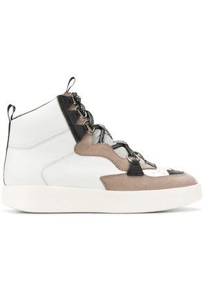Grey Mer panelled hi-top sneakers - White