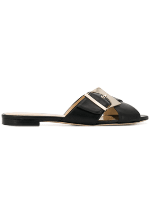 Chloe Gosselin buckled flat mules - Black