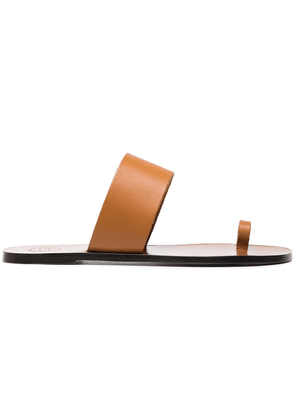 Atp Atelier Terra Brown Astrid Vacchetta Leather Sandals