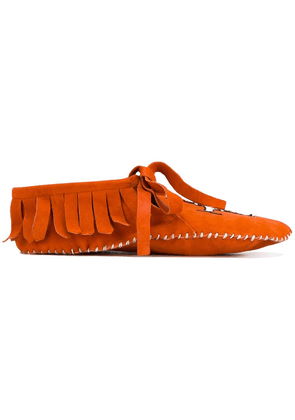 Brother Vellies embroidered moccasins - Orange
