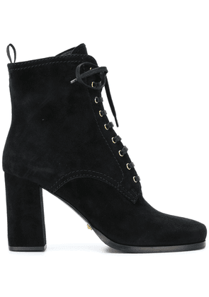 Car Shoe lace up ankle boots - Black