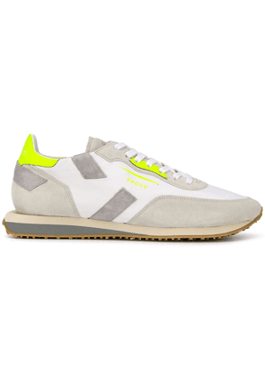 Ghoud panelled lace-up shoes - White