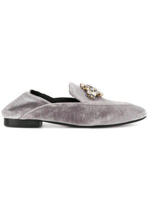 Caruso embellished mules - Grey