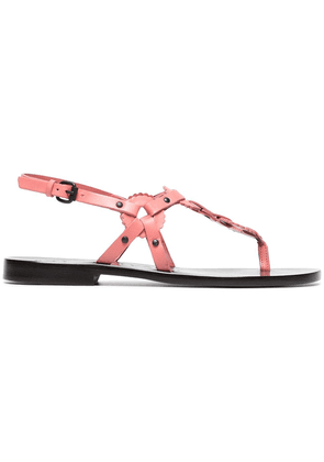 Álvaro pink Ando 20 circle detail flat leather sandals