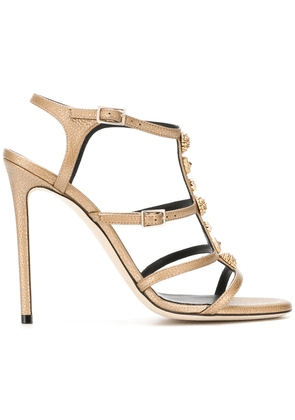 Grey Mer open toe buckle sandals - Metallic