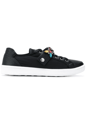 Car Shoe jewel strap trainers - Black