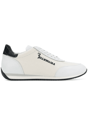 Billionaire leather low-top trainers - White