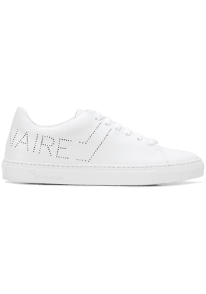Billionaire perforated logo sneakers - White