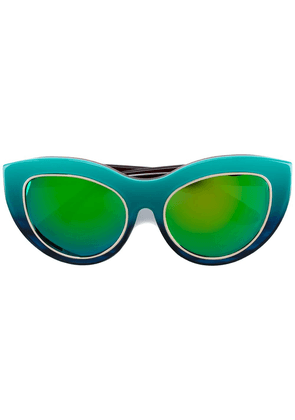 Dax Gabler multicoloured 'N°03' cat-eye sunglasses - Blue