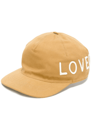 Gucci Loved embroidered cap - Brown