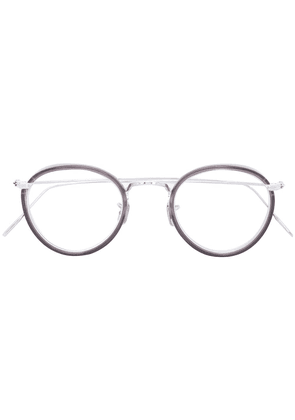 Eyevan7285 contrast round glasses - Metallic