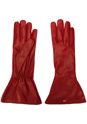 Dolce & Gabbana leather gloves - Red