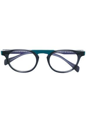 Face À Face round shaped glasses - Black