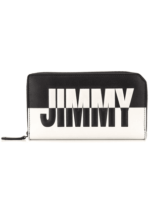 Jimmy Choo Carnaby bicolour travel wallet - Black