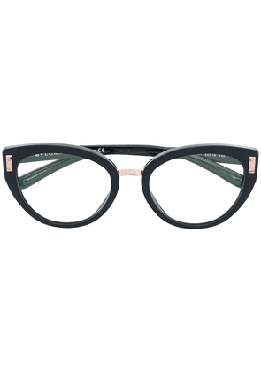 Bulgari side stud oval glasses - Black