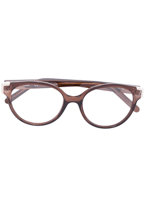 Chloé Eyewear cat-eye frame glasses - Brown