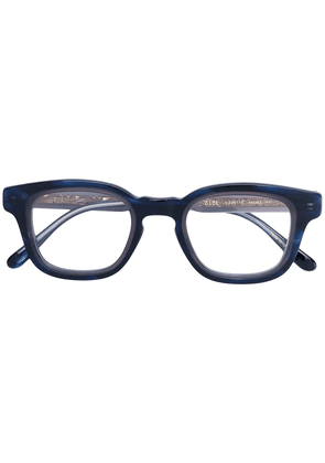 Eyevan7285 marbled effect glasses - Black