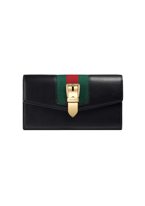 Gucci Sylvie leather continental wallet - Black