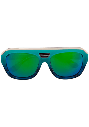 Dax Gabler multicoloured 'N°04' acetate sunglasses - Blue