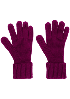 N.Peal ribbed knitted gloves - Pink