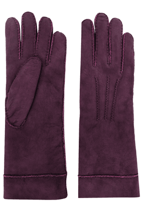 Isabel Marant embroidered lambskin gloves - Pink