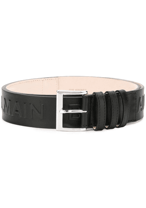 Balmain logo embossed belt - Black