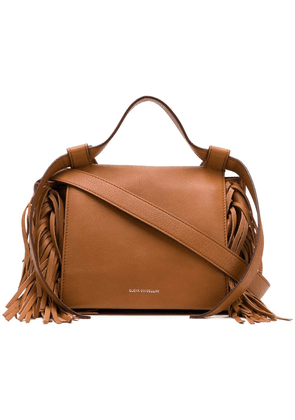 Elena Ghisellini fringed sides crossbody bag - Brown