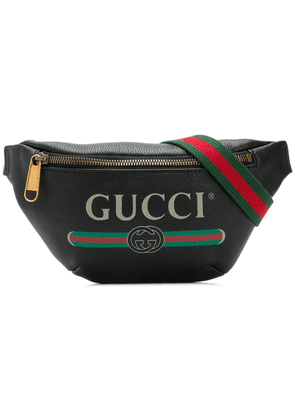 Gucci logo print belt bag - Black