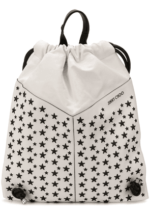 Jimmy Choo Marlon biker drawstring backpack - White