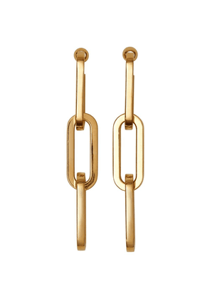 Burberry Gold-plated Link Drop Earrings
