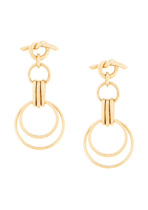 Eshvi hula hoops earrings - Yellow
