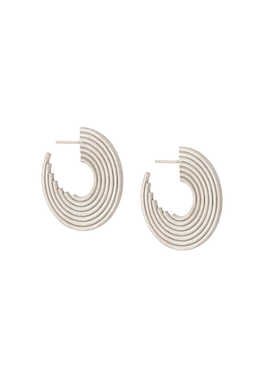 Charlotte Valkeniers Spectrum hoop earrings - Silver