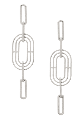 Charlotte Valkeniers Meta drop earrings - Silver
