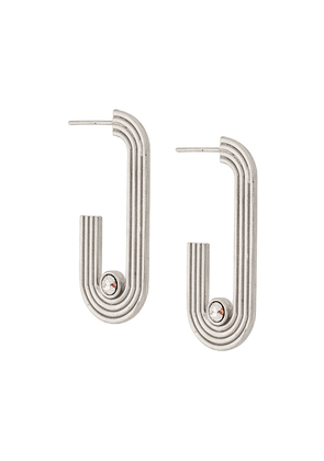 Charlotte Valkeniers Pilot hoop earrings - Silver