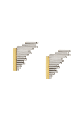 Charlotte Valkeniers Small Flare stud earrings - Gold