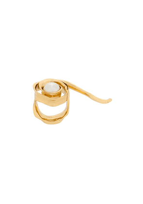 Coup De Coeur Wild Rose Pearl ring - Gold
