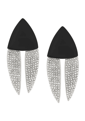 Saint Laurent articulated geometric earrings - Black