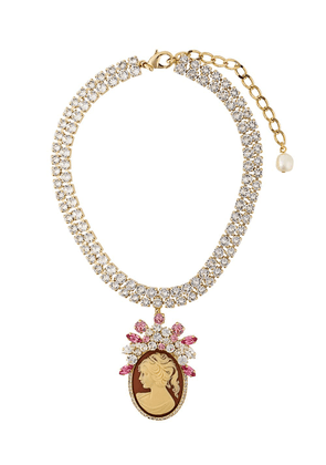 Dolce & Gabbana embellished pendant necklace - Metallic