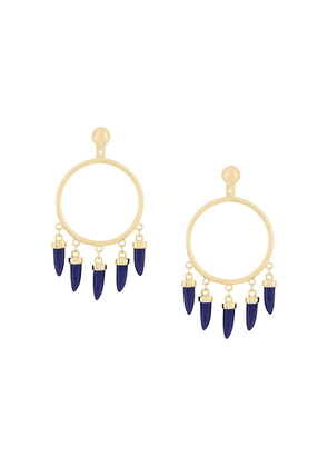 Eshvi Capsule lapis earrings - Metallic