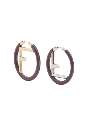 Fendi F Is Fendi earrings - Brown