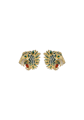 Gucci Tiger head earrings - Yellow