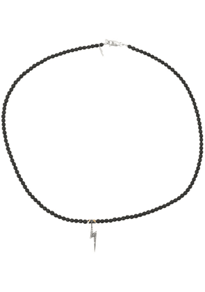 Catherine Michiels beaded necklace - Black