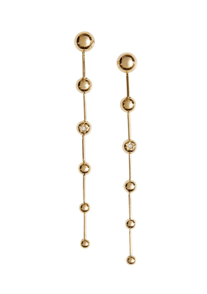 Burberry Crystal Charm Gold-plated Drop Earrings - Metallic