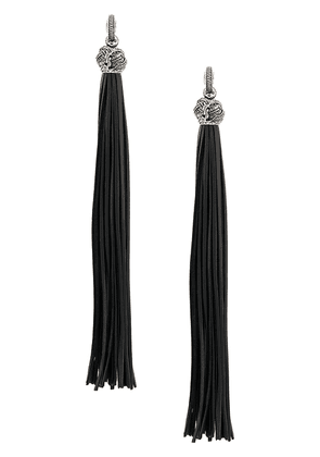 Saint Laurent Lou Lou Tassel earrings - Black