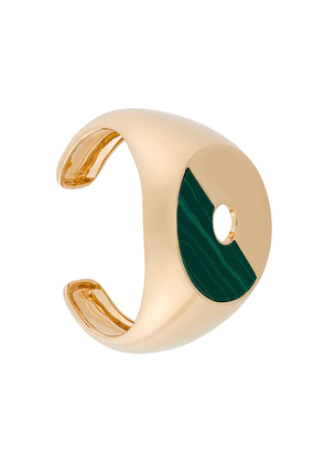 Eshvi Malachite resin disc cuff - Green
