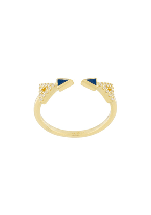 Eshvi crystal embellished ring - Metallic