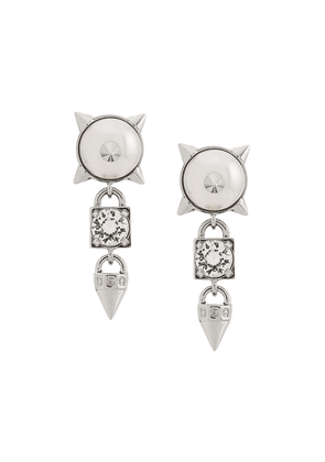 Dsquared2 embellished earrings - Silver