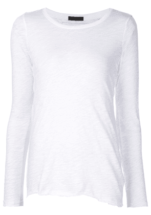Atm Anthony Thomas Melillo asymmetric hem longsleeved T-shirt - White