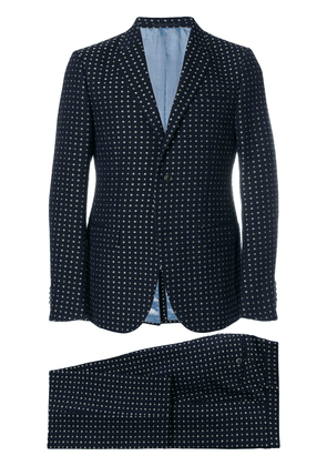 Gucci floral embroidered two-piece suit - Blue