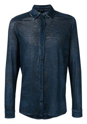 Avant Toi long-sleeve fitted shirt - Blue